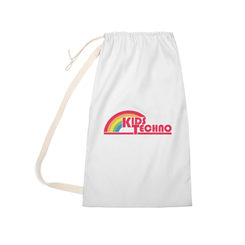 Kids Techno Rainbow Accessories Laundry Bag Bag by The Cherub Records Shop