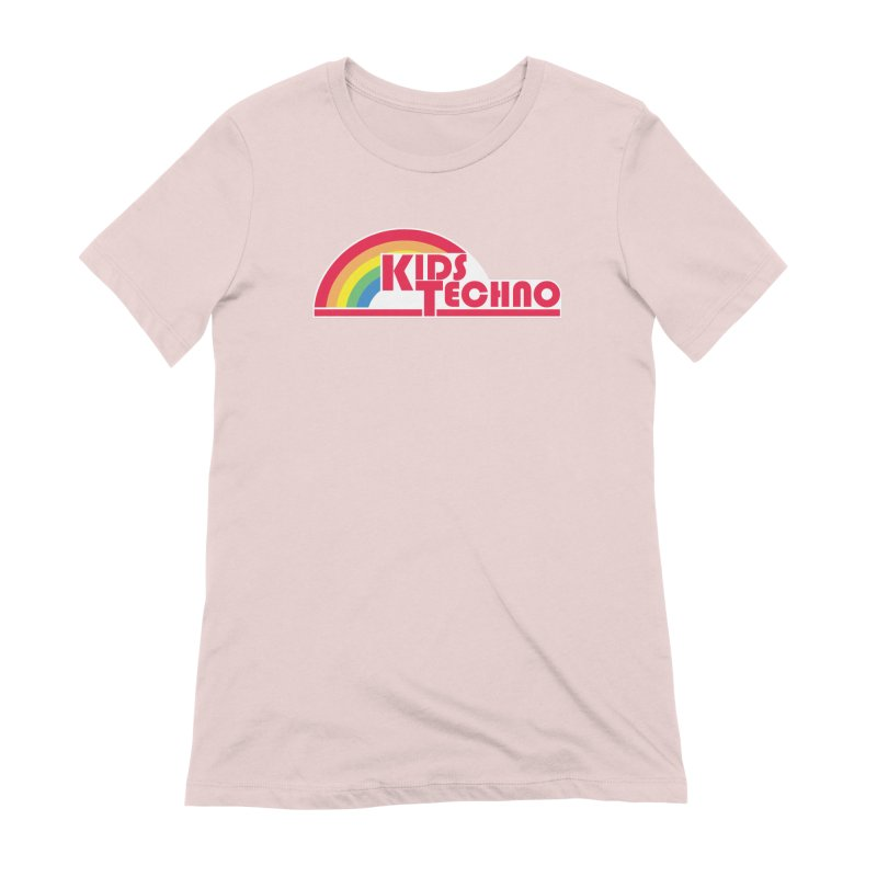 Kids Techno Rainbow Women's Extra Soft T-Shirt by The Cherub Records Shop