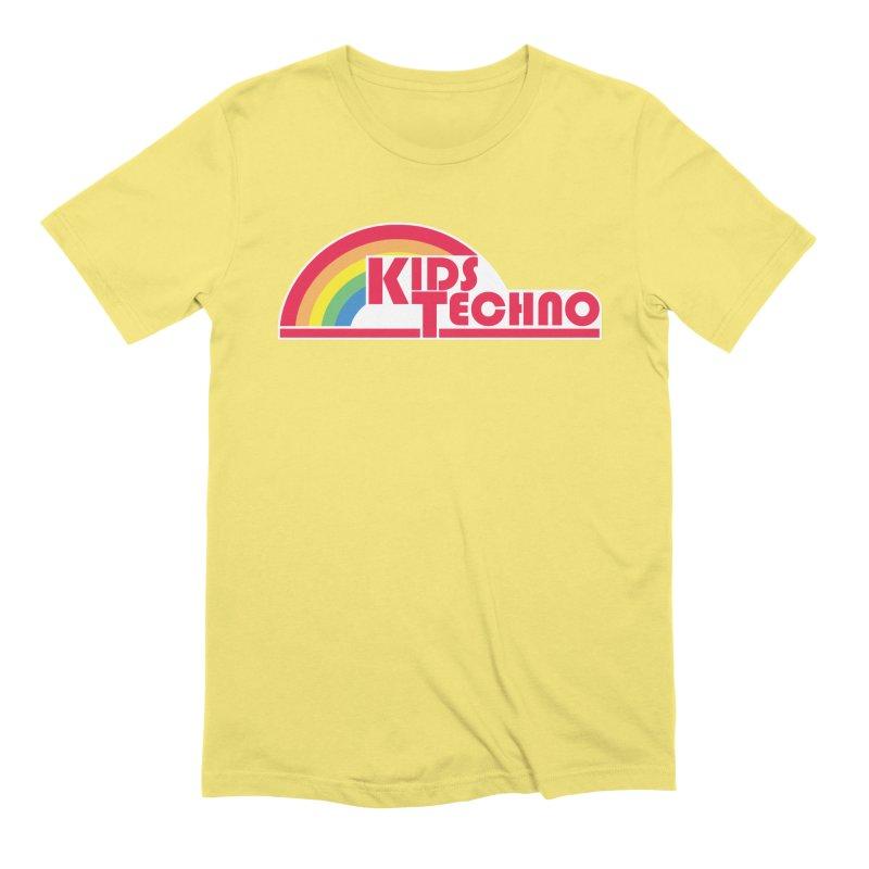 Kids Techno Rainbow Men's Extra Soft T-Shirt by The Cherub Records Shop