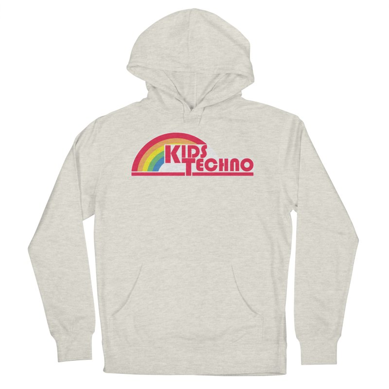 Kids Techno Rainbow Women's French Terry Pullover Hoody by The Cherub Records Shop