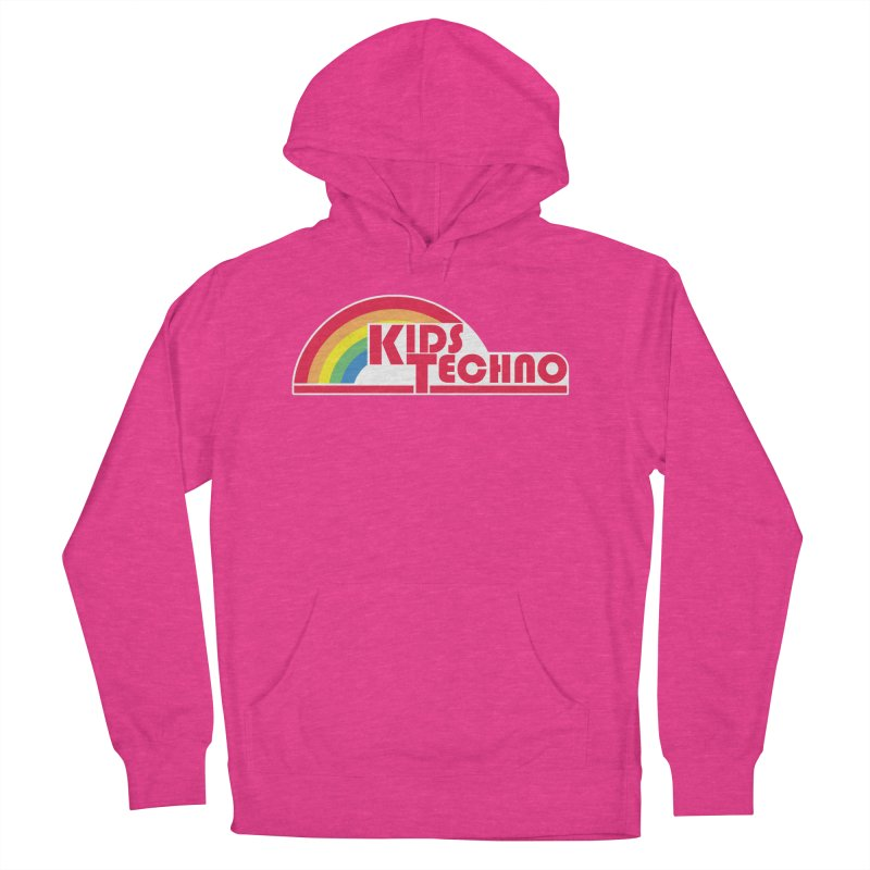Kids Techno Rainbow Men's French Terry Pullover Hoody by The Cherub Records Shop
