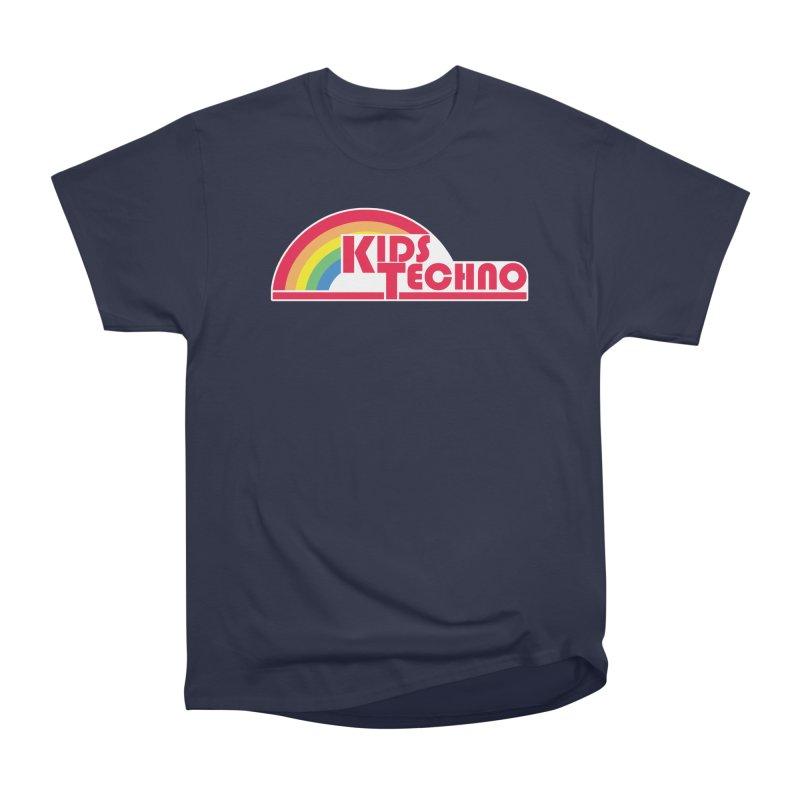 Kids Techno Rainbow Women's Heavyweight Unisex T-Shirt by The Cherub Records Shop