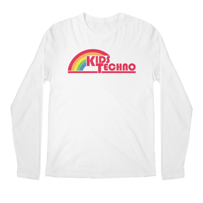 Kids Techno Rainbow Men's Regular Longsleeve T-Shirt by The Cherub Records Shop