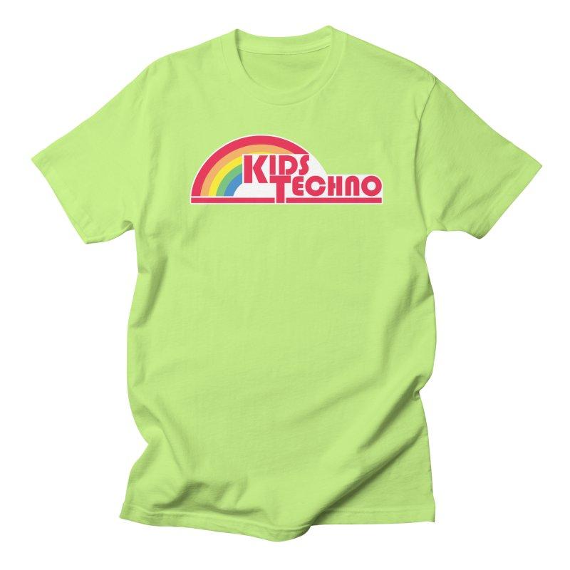 Kids Techno Rainbow Men's Regular T-Shirt by The Cherub Records Shop