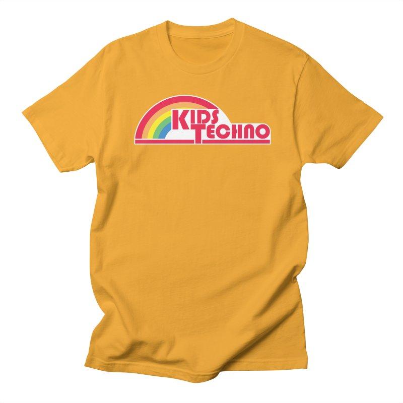 Kids Techno Rainbow Women's Regular Unisex T-Shirt by The Cherub Records Shop
