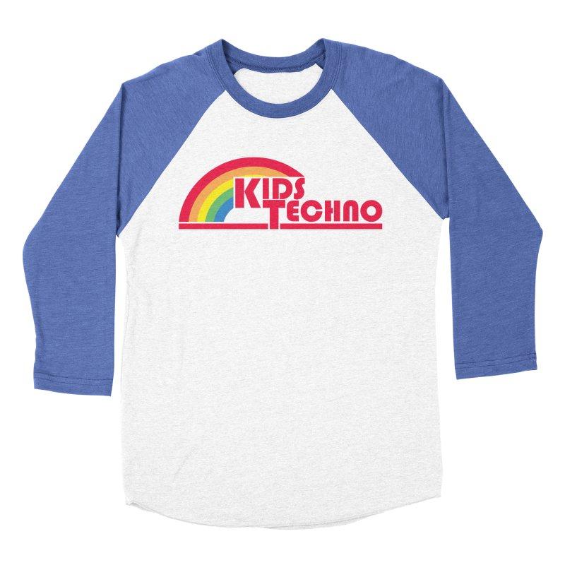 Kids Techno Rainbow Men's Baseball Triblend Longsleeve T-Shirt by The Cherub Records Shop