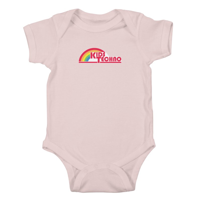 Kids Techno Rainbow Kids Baby Bodysuit by The Cherub Records Shop
