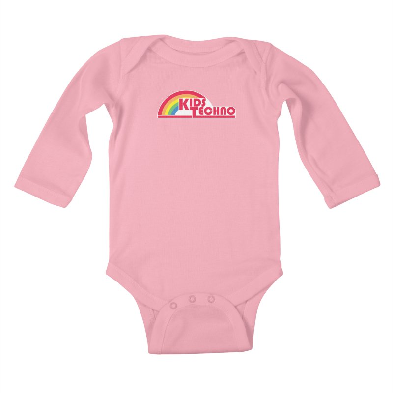 Kids Techno Rainbow Kids Baby Longsleeve Bodysuit by The Cherub Records Shop