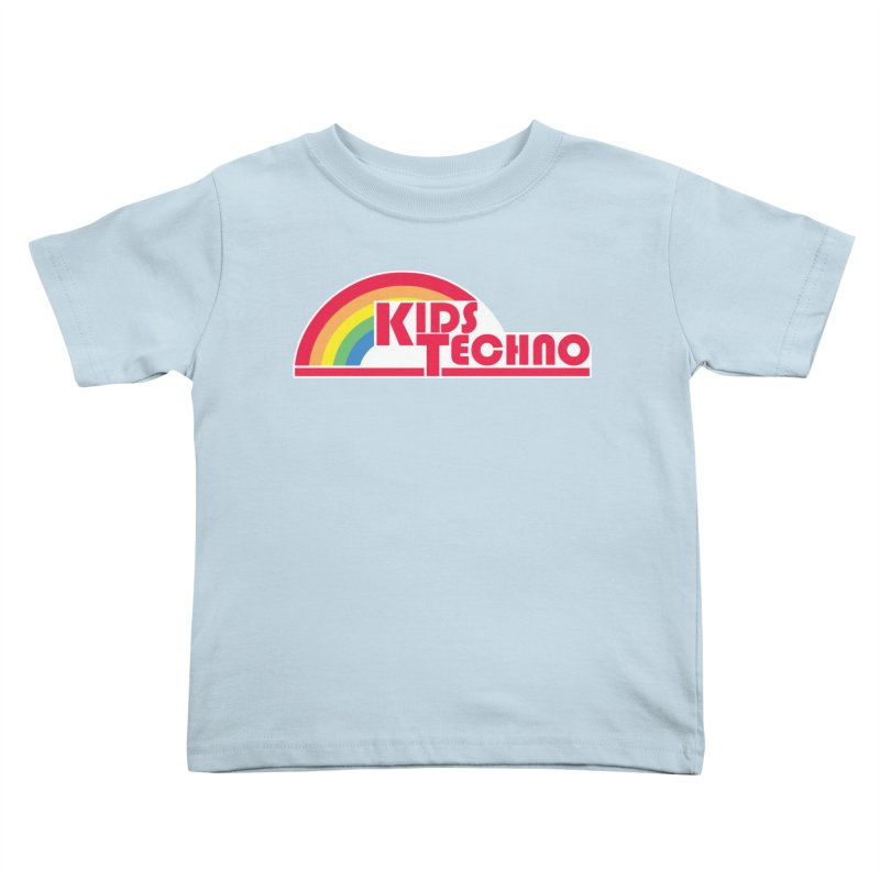 Kids Techno Rainbow Kids Toddler T-Shirt by The Cherub Records Shop