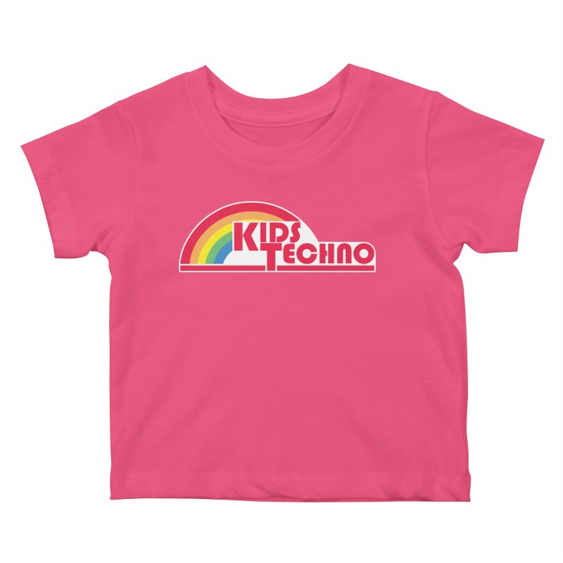 Kids Techno Rainbow Kids Baby T-Shirt by The Cherub Records Shop