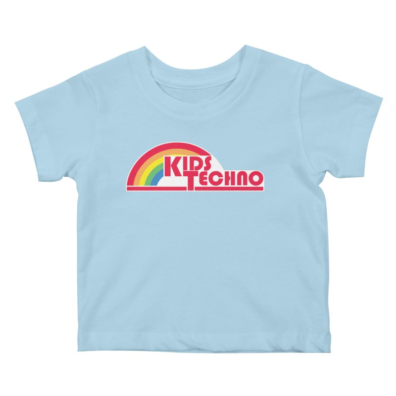 Kids Techno Rainbow Kids Baby T-Shirt by The Cherub Records Shop