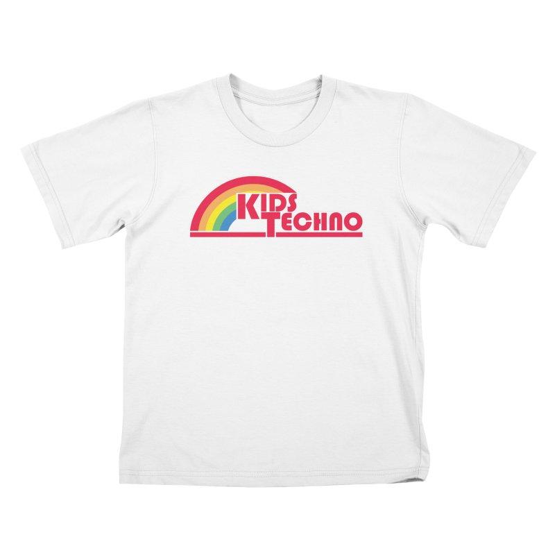 Kids Techno Rainbow Kids T-Shirt by The Cherub Records Shop