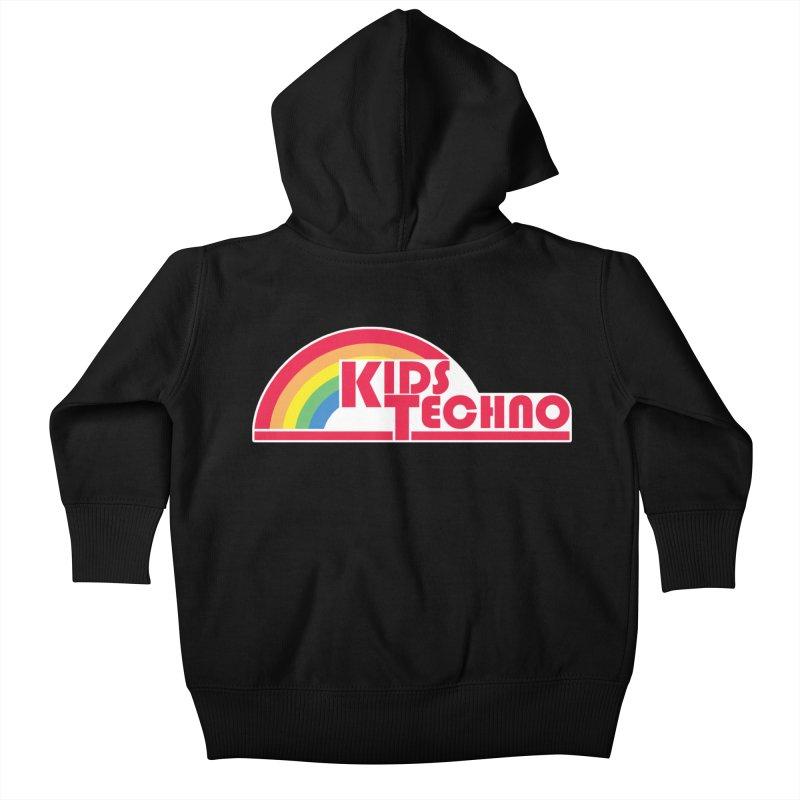 Kids Techno Rainbow Kids Baby Zip-Up Hoody by The Cherub Records Shop