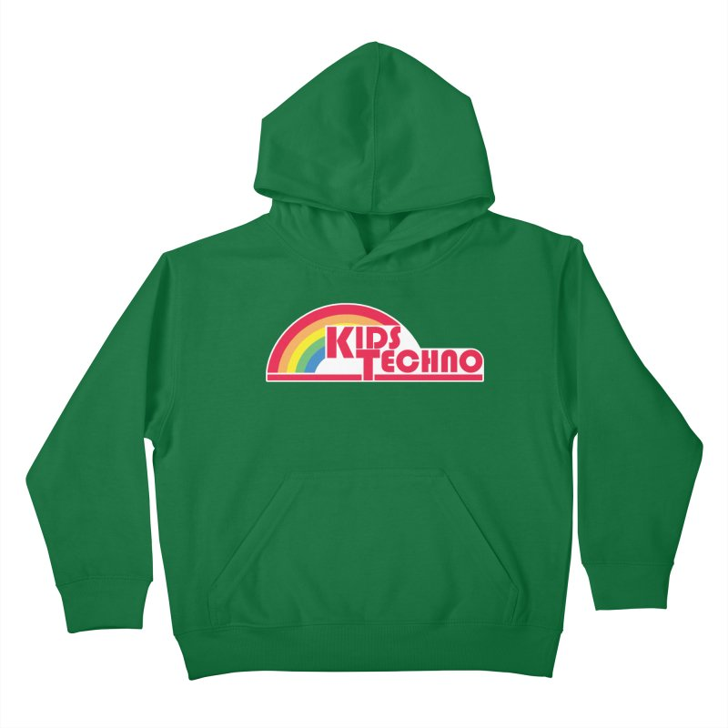 Kids Techno Rainbow Kids Pullover Hoody by The Cherub Records Shop