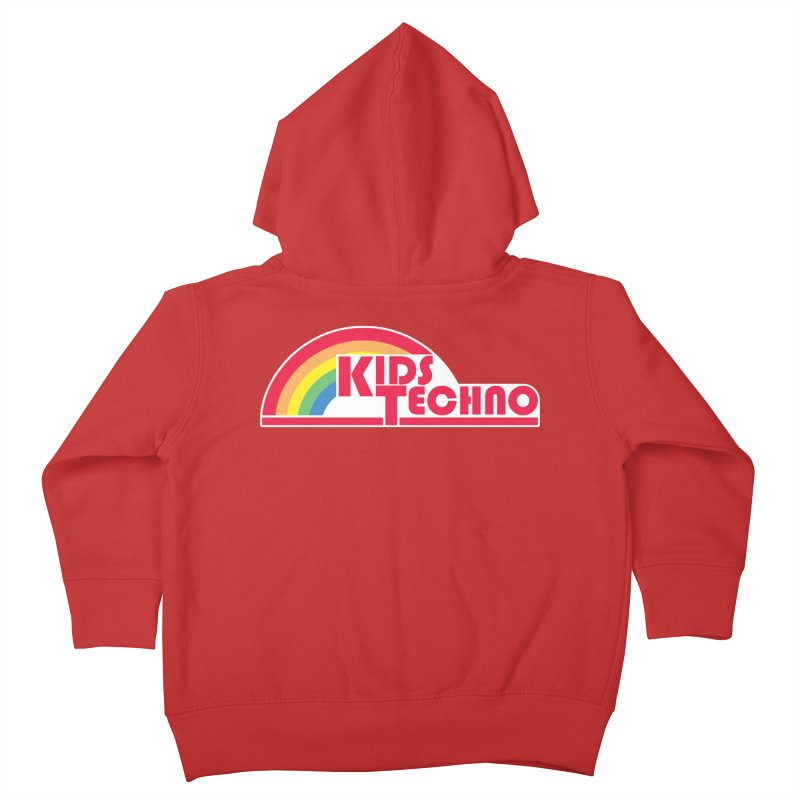 Kids Techno Rainbow Kids Toddler Zip-Up Hoody by The Cherub Records Shop
