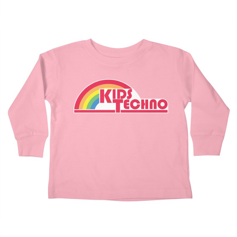 Kids Techno Rainbow Kids Toddler Longsleeve T-Shirt by The Cherub Records Shop