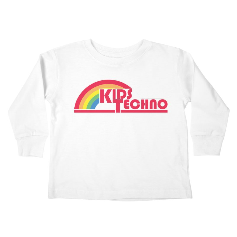 Kids Techno Rainbow Kids Toddler Longsleeve T-Shirt by The Cherub Records Shop