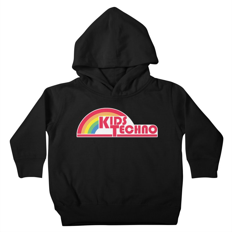 Kids Techno Rainbow Kids Toddler Pullover Hoody by The Cherub Records Shop