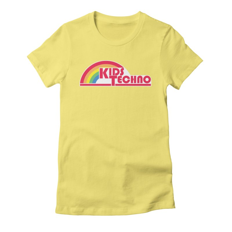 Kids Techno Rainbow Women's Fitted T-Shirt by The Cherub Records Shop