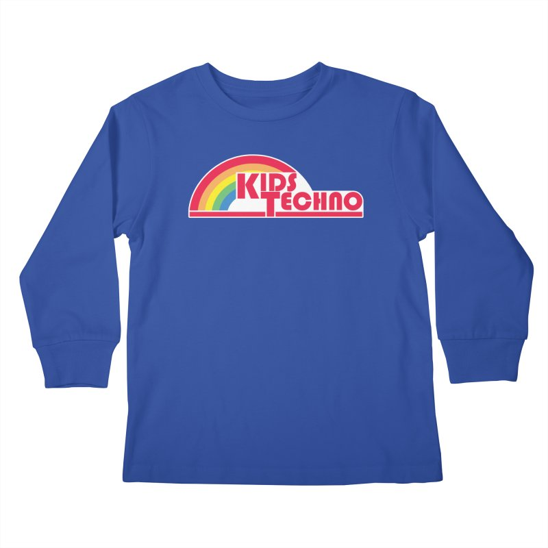 Kids Techno Rainbow Kids Longsleeve T-Shirt by The Cherub Records Shop