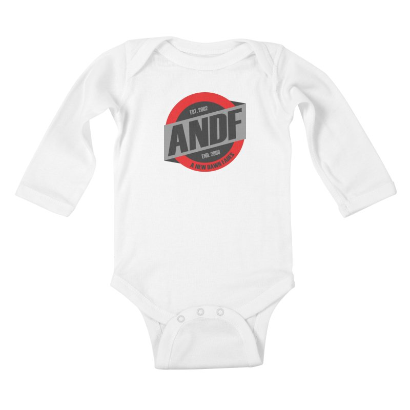 A New Dawn Fades Kids Baby Longsleeve Bodysuit by The Cherub Records Shop