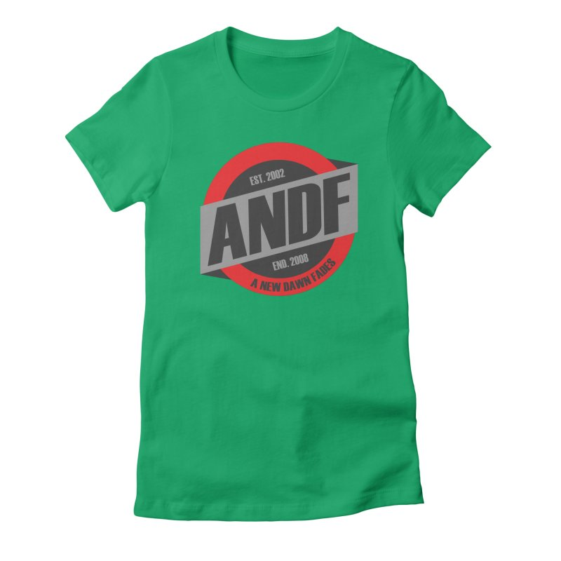 A New Dawn Fades Women's Fitted T-Shirt by The Cherub Records Shop