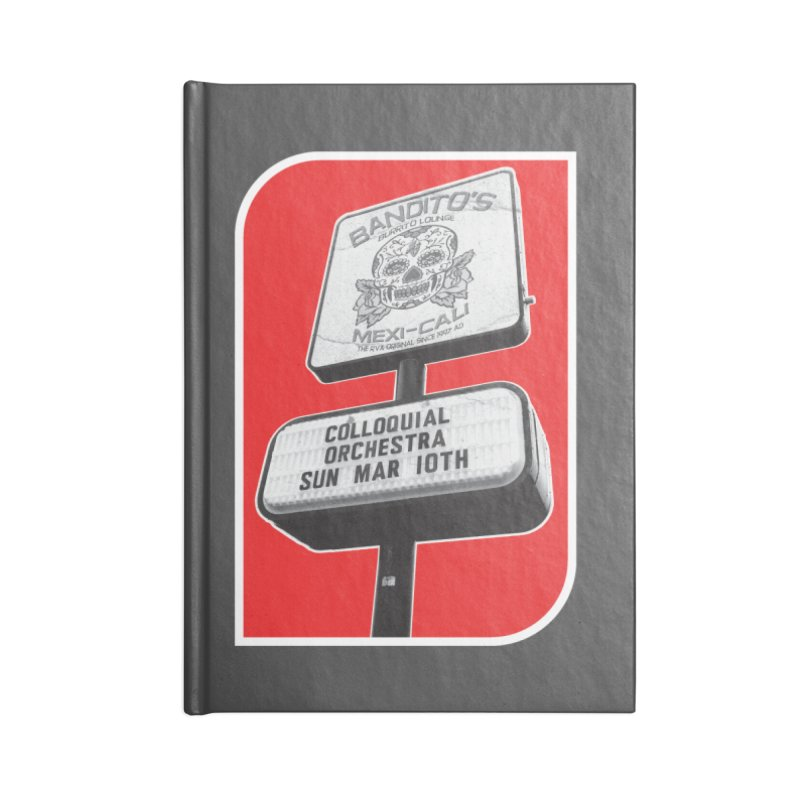 The Colloquial Orchestra Accessories Lined Journal Notebook by The Cherub Records Shop