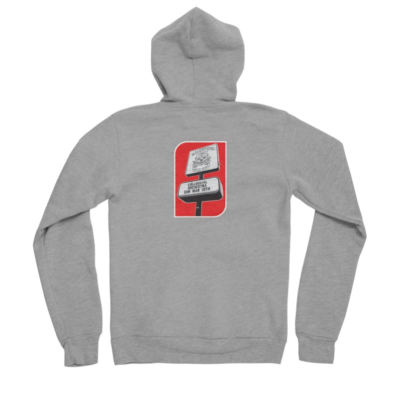 The Colloquial Orchestra Women's Sponge Fleece Zip-Up Hoody by The Cherub Records Shop