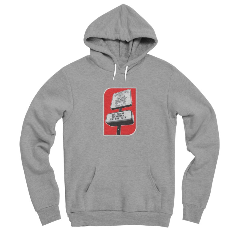 The Colloquial Orchestra Men's Sponge Fleece Pullover Hoody by The Cherub Records Shop