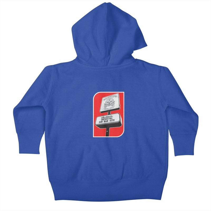 The Colloquial Orchestra Kids Baby Zip-Up Hoody by The Cherub Records Shop