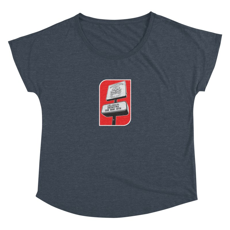 The Colloquial Orchestra Women's Dolman Scoop Neck by The Cherub Records Shop