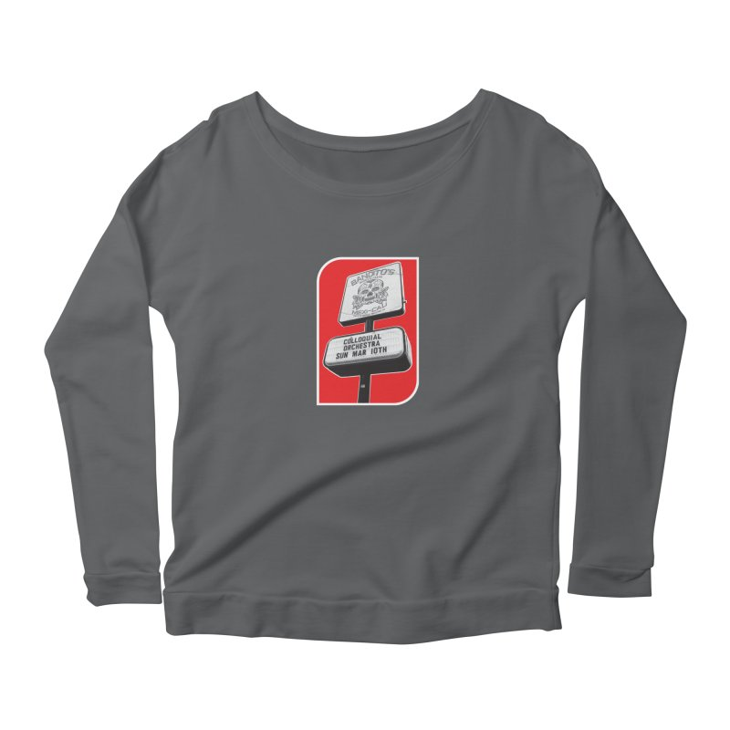 The Colloquial Orchestra Women's Scoop Neck Longsleeve T-Shirt by The Cherub Records Shop