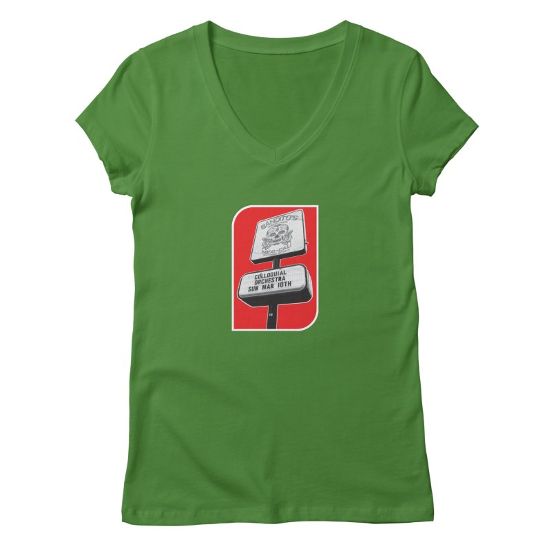 The Colloquial Orchestra Women's Regular V-Neck by The Cherub Records Shop