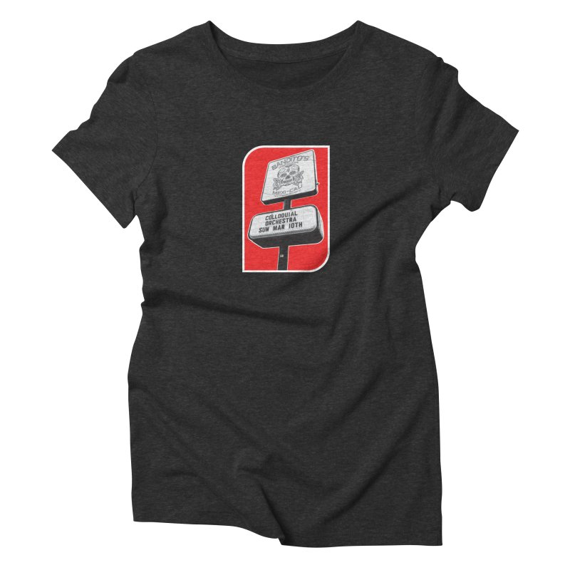 The Colloquial Orchestra Women's Triblend T-Shirt by The Cherub Records Shop