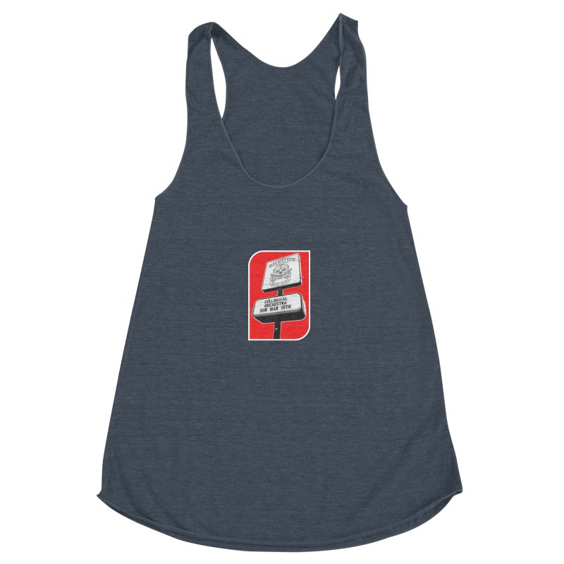 The Colloquial Orchestra Women's Racerback Triblend Tank by The Cherub Records Shop