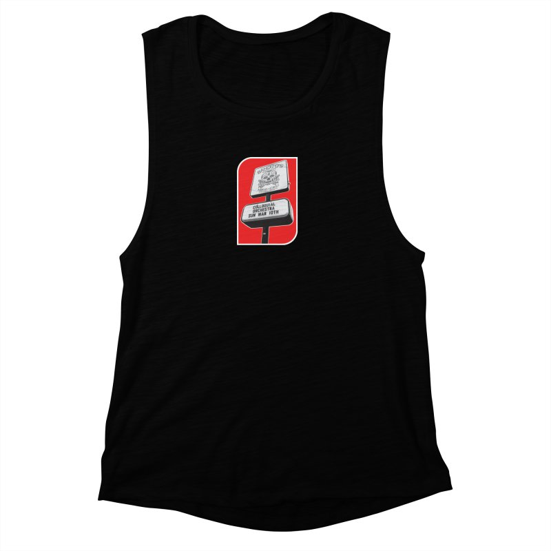 The Colloquial Orchestra Women's Muscle Tank by The Cherub Records Shop