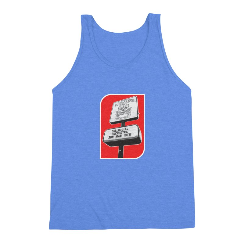 The Colloquial Orchestra Men's Triblend Tank by The Cherub Records Shop