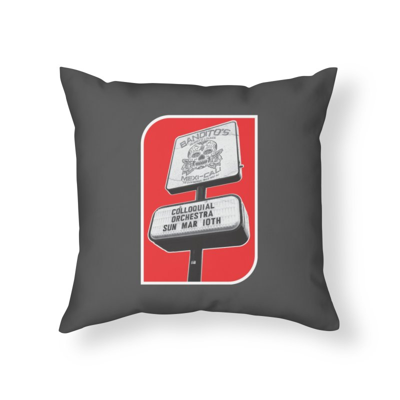 The Colloquial Orchestra Home Throw Pillow by The Cherub Records Shop