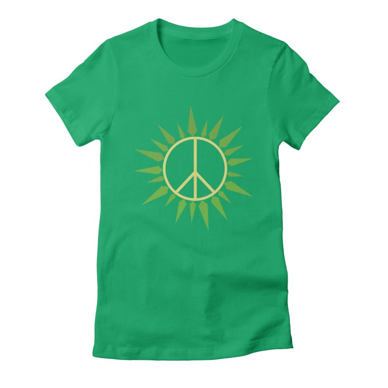 SpringPeace Women's Fitted T-Shirt by cheshire's Artist Shop