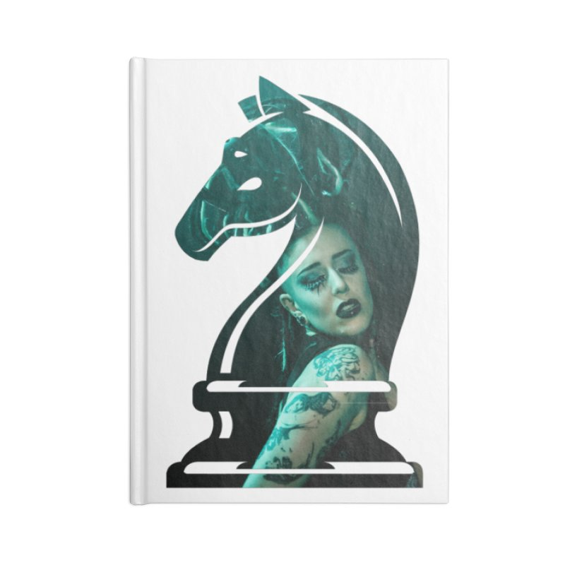 Chess Countess Knight Accessories Lined Journal Notebook by chessclub's Artist Shop