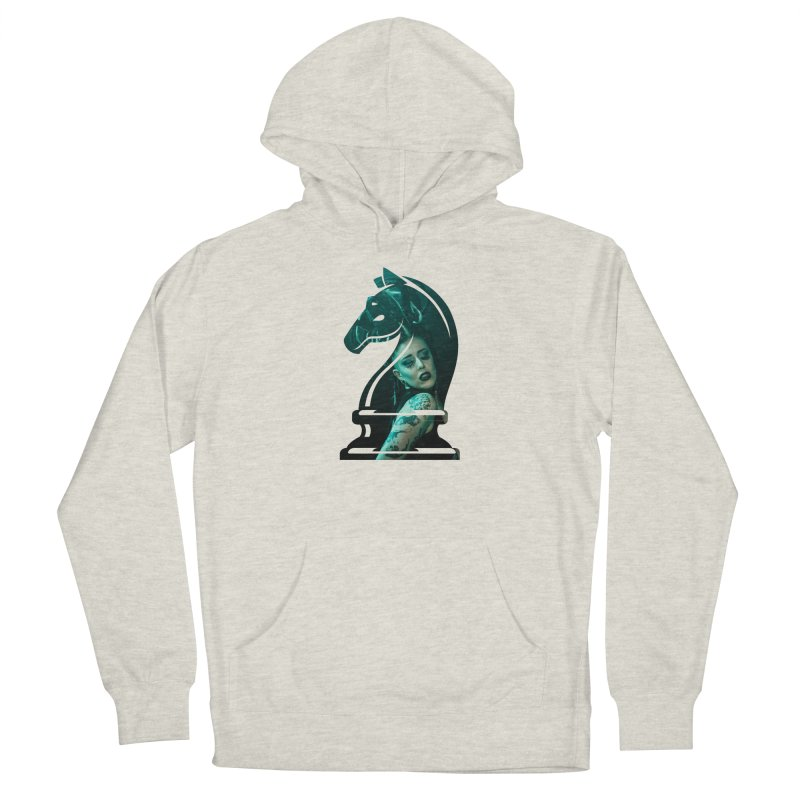 Chess Countess Knight Men's French Terry Pullover Hoody by chessclub's Artist Shop
