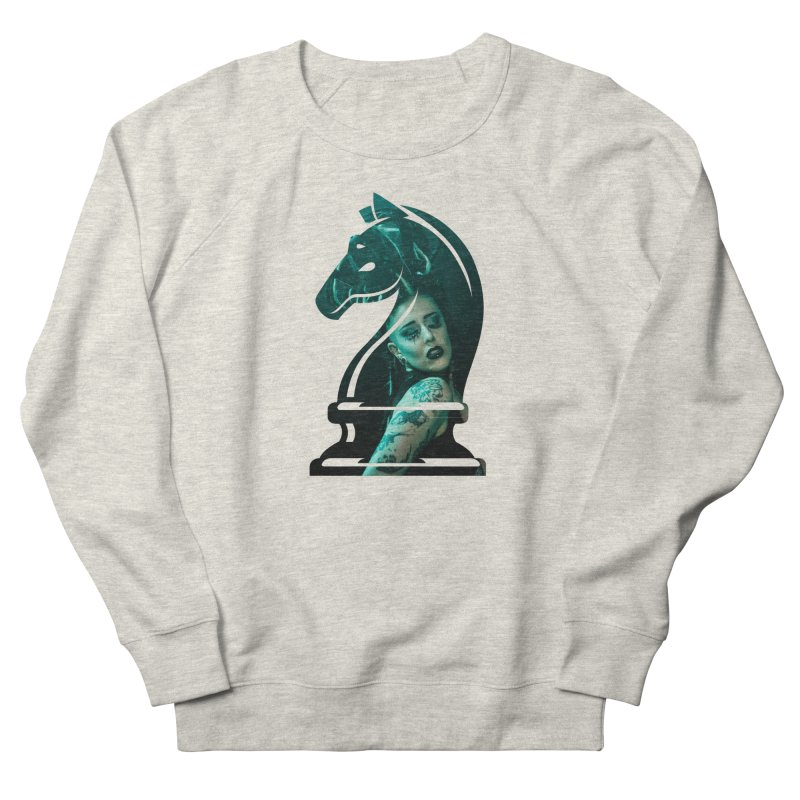 Chess Countess Knight Men's French Terry Sweatshirt by chessclub's Artist Shop
