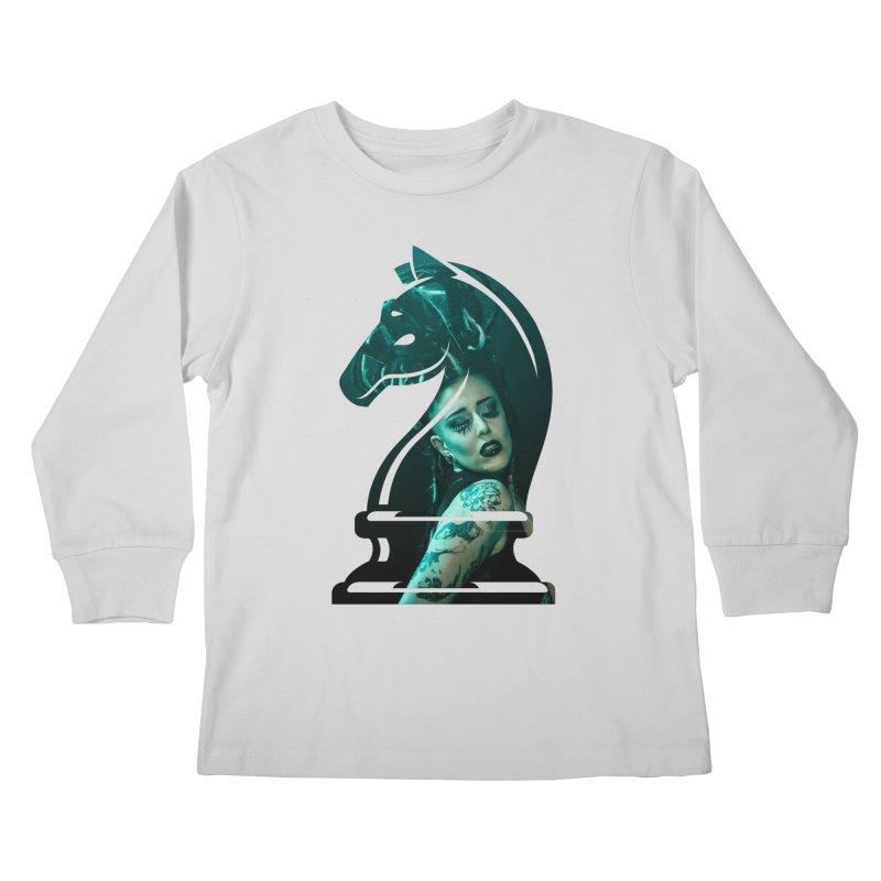 Chess Countess Knight Kids Longsleeve T-Shirt by chessclub's Artist Shop