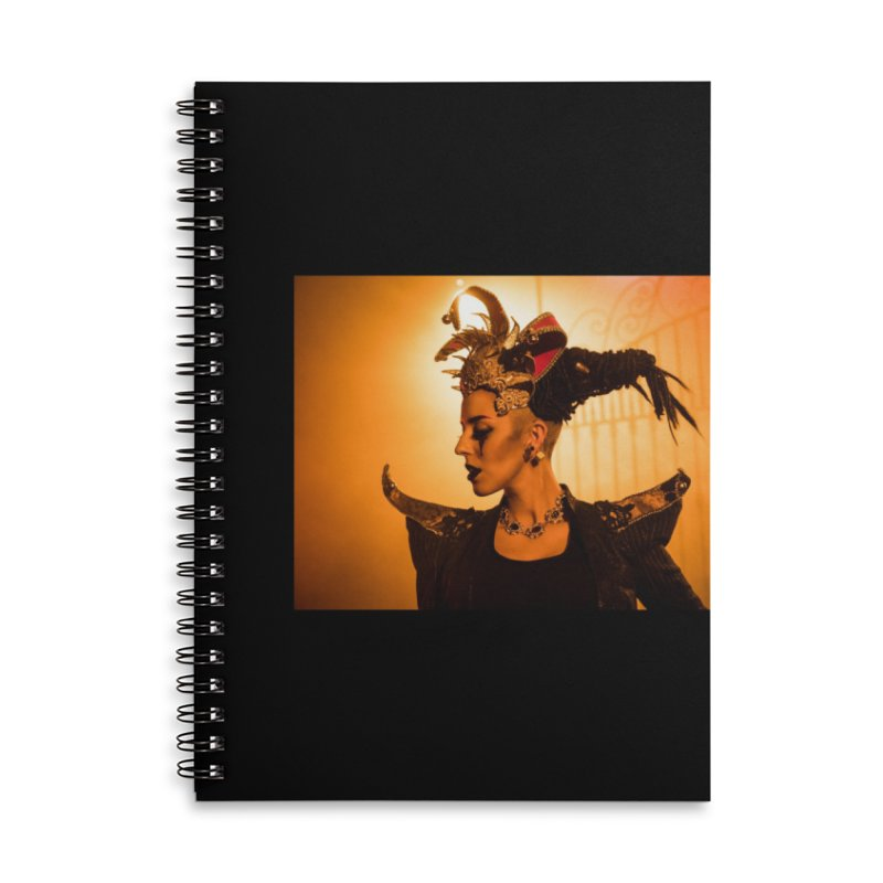 Chess Countess Orange Accessories Lined Spiral Notebook by chessclub's Artist Shop