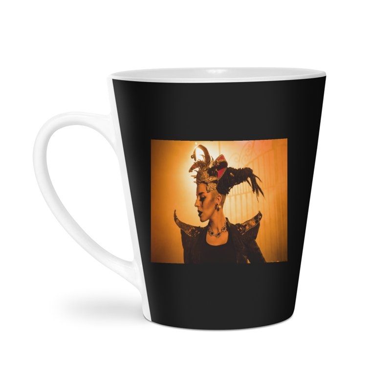 Chess Countess Orange Accessories Latte Mug by chessclub's Artist Shop