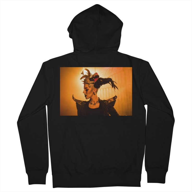 Chess Countess Orange Women's French Terry Zip-Up Hoody by chessclub's Artist Shop