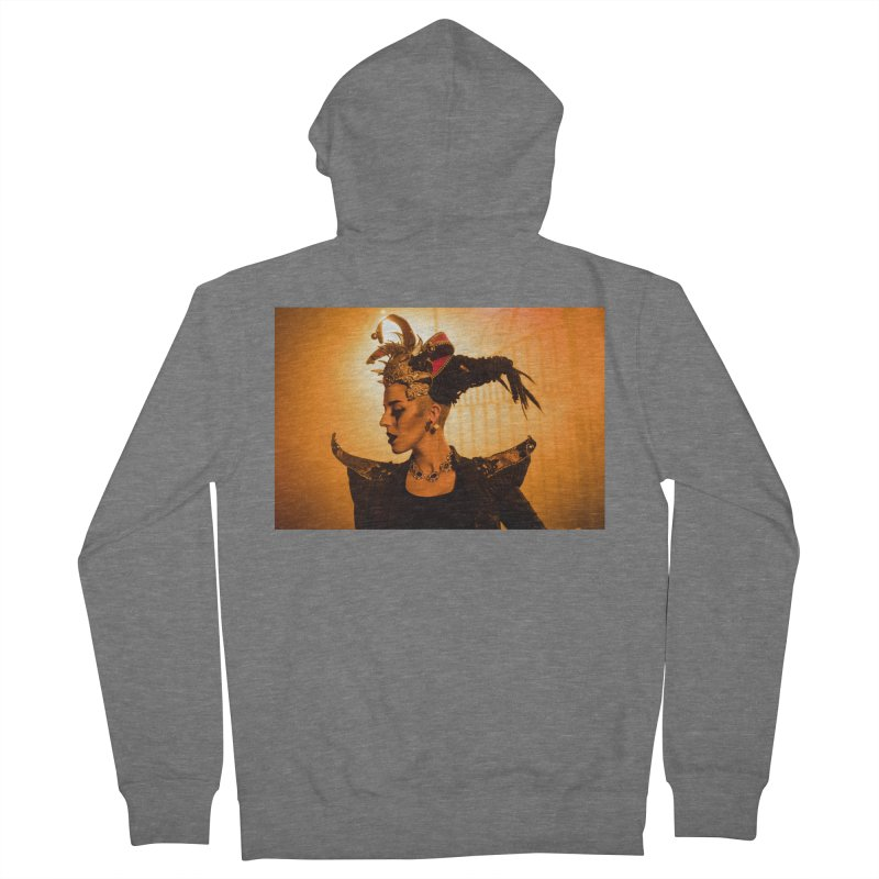 Chess Countess Orange Men's French Terry Zip-Up Hoody by chessclub's Artist Shop