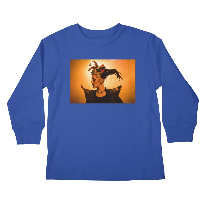 Chess Countess Orange Kids Longsleeve T-Shirt by chessclub's Artist Shop