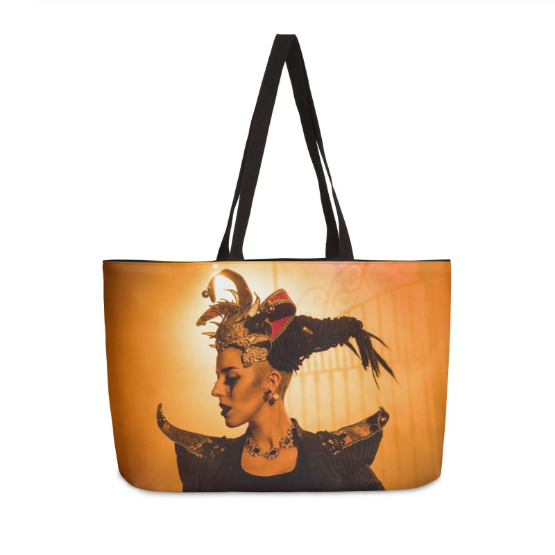 Chess Countess Orange Accessories Weekender Bag Bag by chessclub's Artist Shop