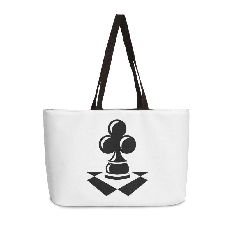 Chess Club Black Accessories Weekender Bag Bag by chessclub's Artist Shop